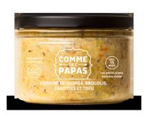 Egrainé de quinoa, brocolis, carottes et tofu