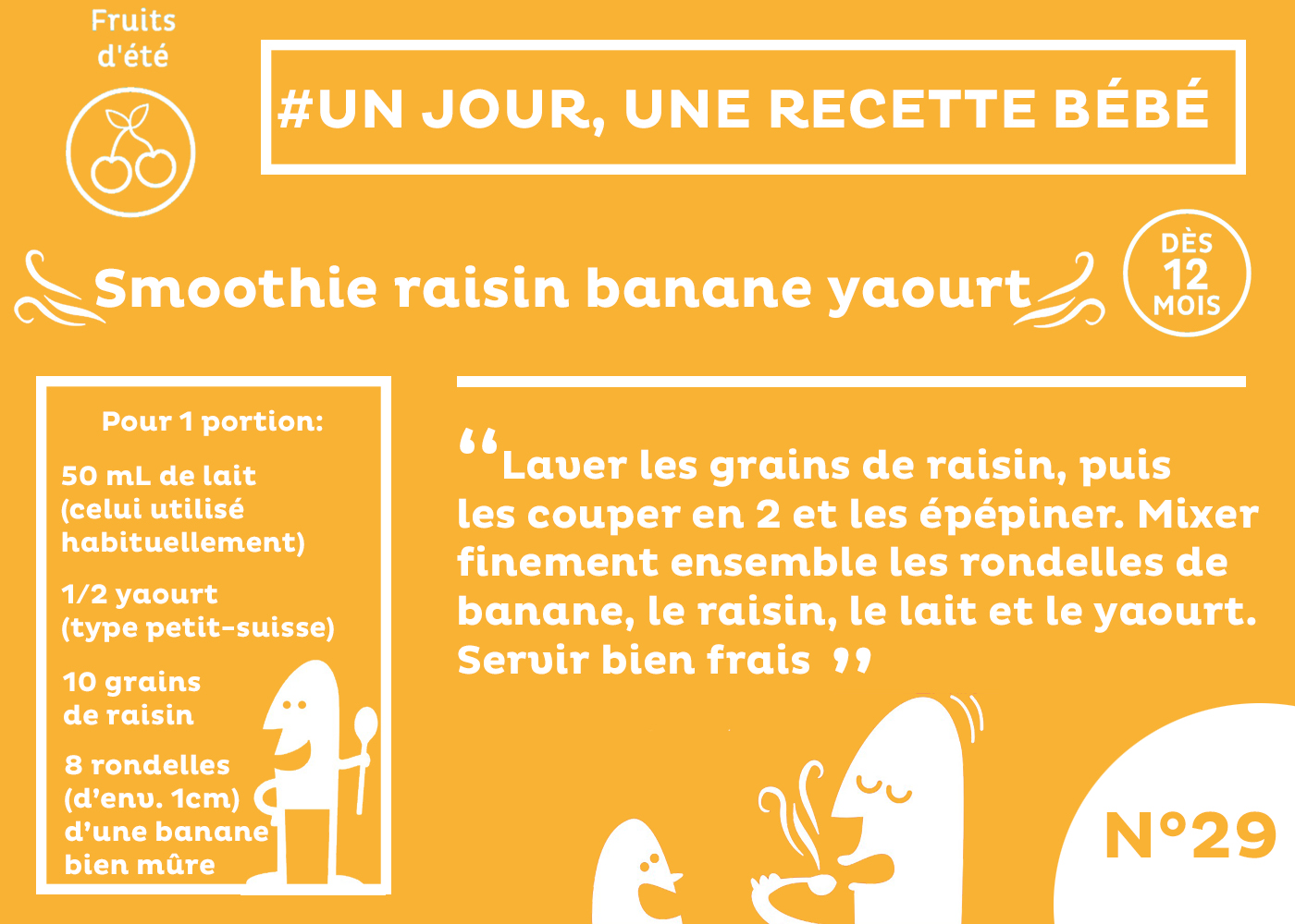 smoothie raisin banane yaourt