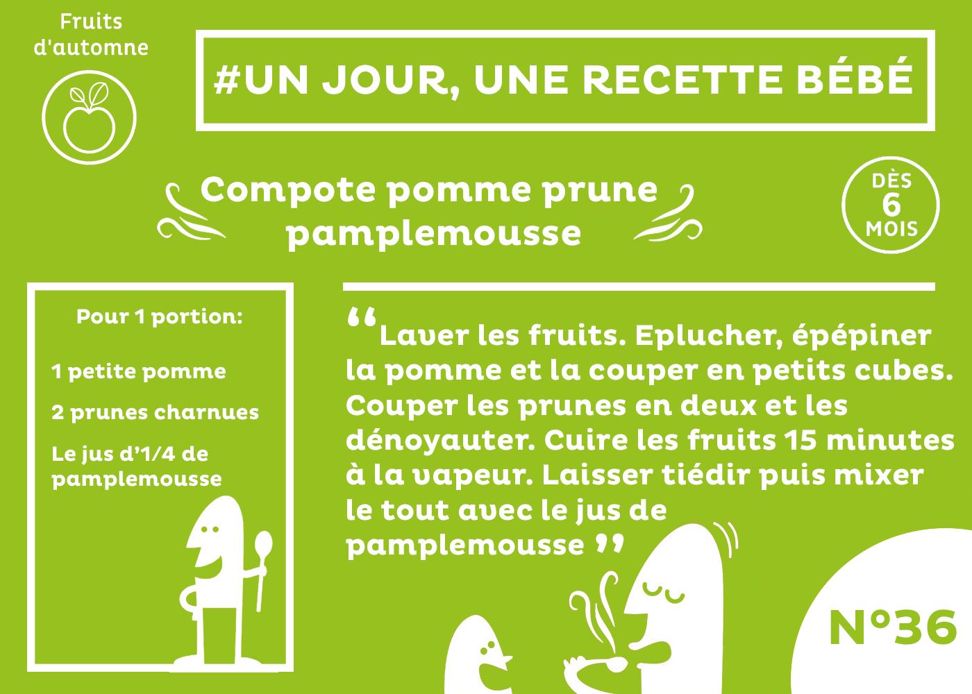 Recette b b d s 6 mois compote de pomme prune et - Temps de conservation compote maison pour bebe ...